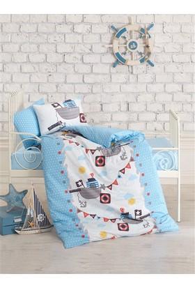 Cotton Box Bebek Nevresim Takımı Gemici Mavi