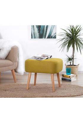 Lorence Home Parrot Puf - Sarı