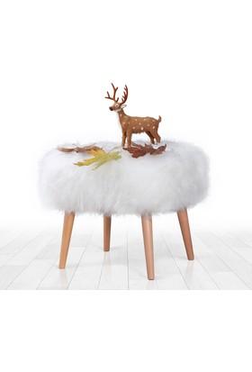 Lorence Home Deer Puf - Beyaz