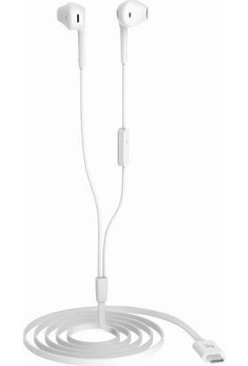Case 4U Letv Leeco USB-C ( Type-C ) Mikrofonlu Kulaklık Beyaz CDLA