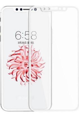 Case 4U Apple iPhone X Tam Kapatan Kavisli Ekran Koruyucu Beyaz (Arka Koruyucu Hediyeli)