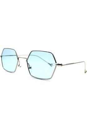 Zolo Eyewear 307 Blue Altıgen Hexagonal Güneş Gözlüğü