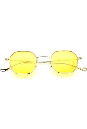 Zolo Eyewear S30037 Sarı Hexagonal Altıgen Güneş Gözlüğü