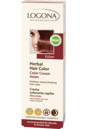 Logona Sarı & Kahve Renkli Saçlar için Bordo Doğal Krem Boya