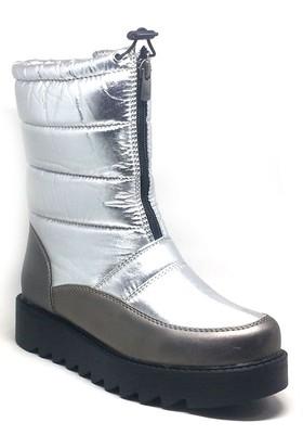 Shop And Shoes Kadın Kar Botu Gümüş 004-2810