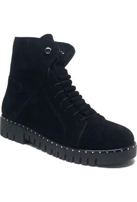 Shop And Shoes Kadın Bot Siyah Süet 155-013102