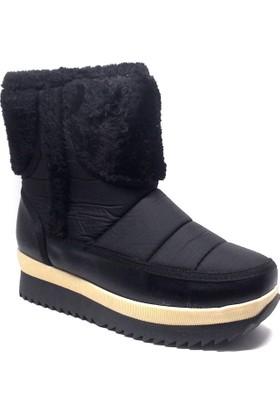 Shop And Shoes Kadın Kar Botu Siyah 155-214