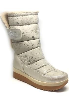 Shop And Shoes Kadın Kar Botu Bej 155-230D