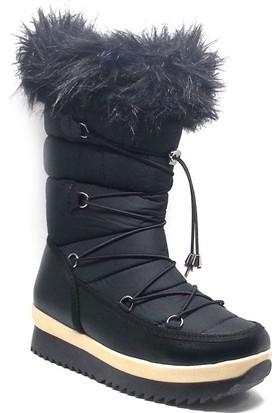 Shop And Shoes Kadın Kar Botu Siyah 155-246