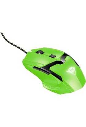 Trust GXT 101 Spectra Gaming Oyuncu Mouse 4800 DPI - Yeşil