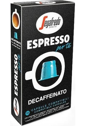 Segafredo Decaffeinato Nespresso Uyumlu Kapsül Kahve 10'lu Kutu