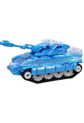 Power Hob Otomatik Direksiyon Oyuncak Işıklı Savaş ve Barış Tankı 24 cm