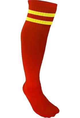 Usr Lüks Futbol Tozluğu Çorabı Kırmızı Sarı Büyük Boy