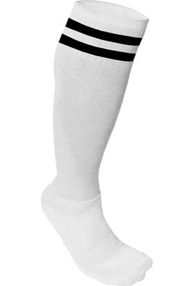 Usr Süper Futbol Tozluğu Çorabı Beyaz Siyah