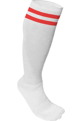 Usr Süper Futbol Tozluğu Çorabı Beyaz Kırmızı