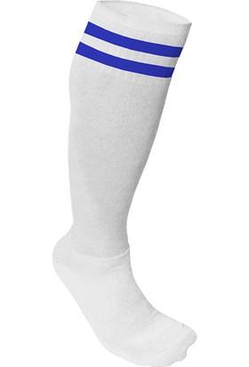 Usr Süper Futbol Tozluğu Çorabı Beyaz Mavi