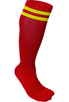 Usr Süper Futbol Tozluğu Çorabı Kırmızı Sarı