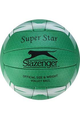 Slazenger Super Star Dikişli 5 No Voleybol Topu Koyu Yeşil
