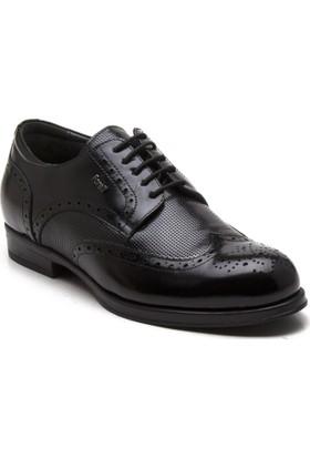 Forelli 33611-G Siyah Erkek Deri Ayakkabı