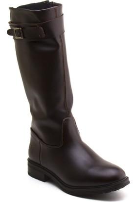 Kinetix Gleny Kahverengi Kadın Uzun Çizme