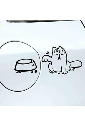 Komik Yakıt Kapağı Stickerı