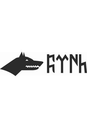 Göktürkçe *Türk Ve Kurt* Stickerı