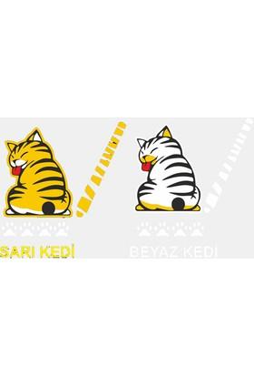 Kuyruk Sallayan Kedi Stickerı