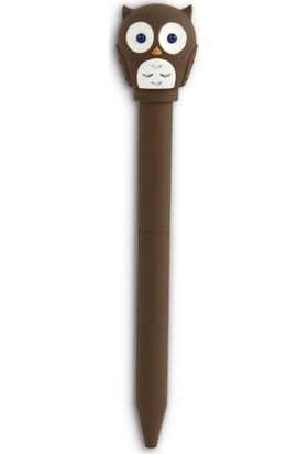 Kikkerland Baykuş Led Kalem Kahverengi
