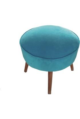 Soft Kumaş Puf (Mavi)