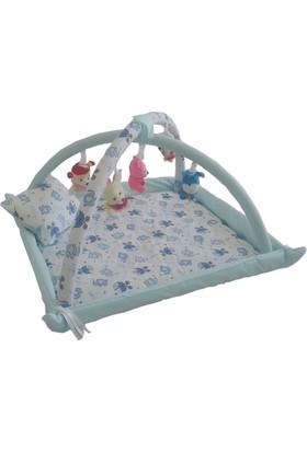 Janbebe Pamuk Bebek Oyun Halısı Oyun Alanı Çocuk Oyun Alanı Minderi Mavi
