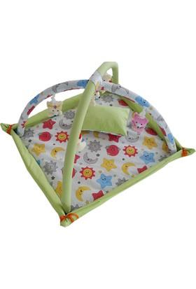 Janbebe Pamuk Bebek Oyun Halısı Oyun Alanı Çocuk Oyun Alanı Minderi Yeşil