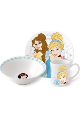Adalinhome Princess Porselen 3'lü Beslenme Seti