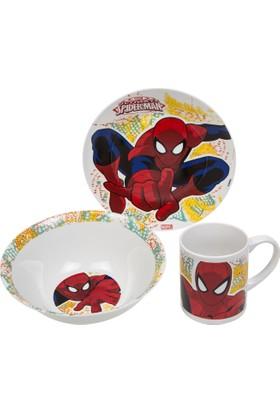 Adalinhome Spiderman 3'lü Beslenme Seti