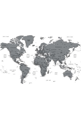 Gez Kazı Dünya Haritası 60x80 cm (Kazınabilir Dünya Haritası)