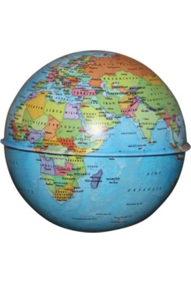 Gürbüz Dünya Kumbara Küre Siyasi 10 cm