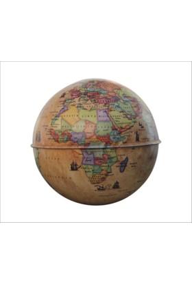 Gürbüz Dünya Kumbara Küre 10cm-Antik