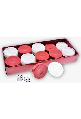 Pusula Oyun Sedefli Tavla Pulu (Kırmızı)
