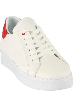 Ayakkabı - Beyaz Kırmızı - Zenneshoes