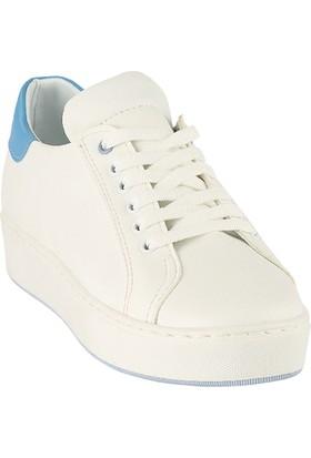 Ayakkabı - Beyaz Mavi - Zenneshoes