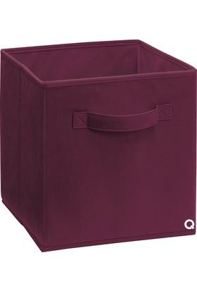Rani Q1 Medium Çok Amaçlı Dolap İçi Düzenleyici Kutu Dekoratif Saklama Kutusu Raf Organizer Bordo