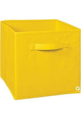 Rani Q1 Large Çok Amaçlı Dolap İçi Düzenleyici Kutu Dekoratif Saklama Kutusu Raf Organizer Sarı