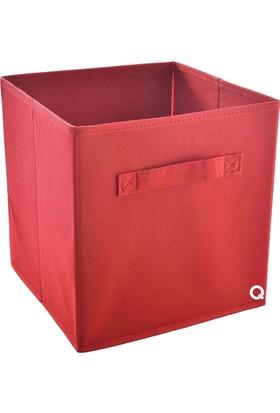Rani Q1 Large Çok Amaçlı Dolap İçi Düzenleyici Kutu Dekoratif Saklama Kutusu Raf Organizer Kırmızı