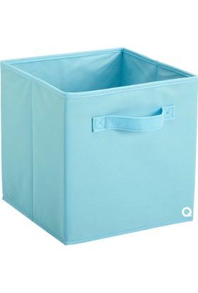 Rani Q1 Large Çok Amaçlı Dolap İçi Düzenleyici Kutu Dekoratif Saklama Kutusu Raf Organizer Açık Mavi