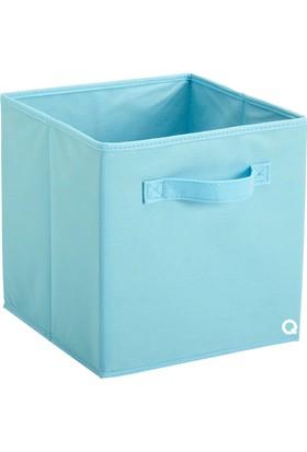 Rani Q1 Medium Çok Amaçlı Dolap İçi Düzenleyici Kutu Dekoratif Saklama Kutusu Raf Organizer Açık Mavi