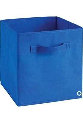 Rani Q1 Large Çok Amaçlı Dolap İçi Düzenleyici Kutu Dekoratif Saklama Kutusu Raf Organizer Saks Mavi