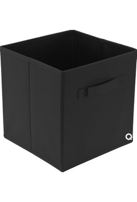 Rani Q1 Large Çok Amaçlı Dolap İçi Düzenleyici Kutu Dekoratif Saklama Kutusu Raf Organizer Siyah