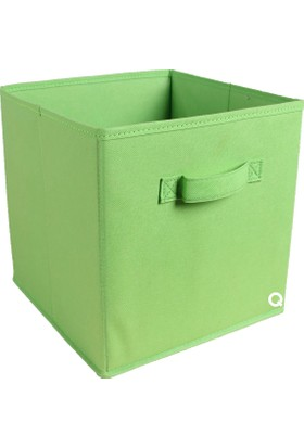 Rani Q1 Medium Çok Amaçlı Dolap İçi Düzenleyici Kutu Dekoratif Saklama Kutusu Raf Organizer Fıstık Yeşili