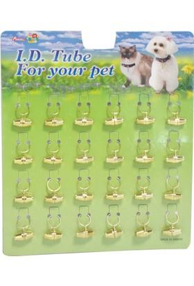 Percell Gold Tekli Kedi Köpek İsimlik Kimlik Tüpü 2 Cm
