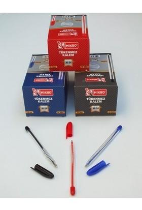Mikro M-34 Mavi Tükenmez Kalem 60 Lı