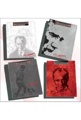 Abka Kapaklı Sekreterlik A4 Atatürk Desenli